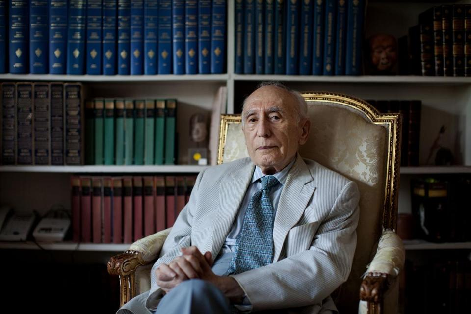 FILE -- Ehsan Yarshater in New York, July 16, 2011. Yarshater, an eminent Iranian historian who founded and edited the Encyclopedia Iranica, a magnum opus of Iranian history and culture that helped transform the modern understanding of Persian civilization, died on Sept. 2, 2018, in Fresno, Calif. He was 98. (Marcus Yam/The New York Times)