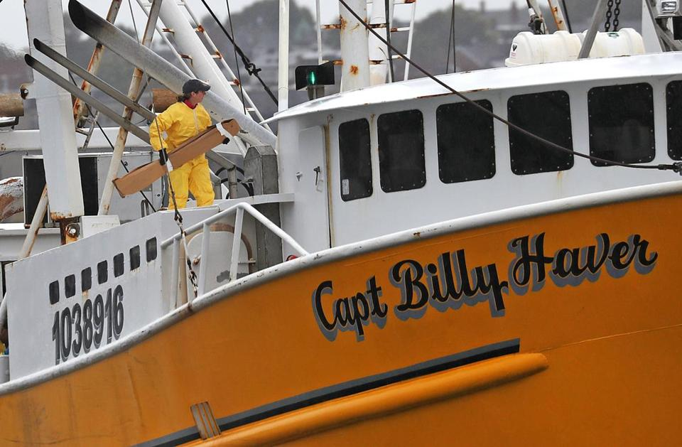 The Captain Billy Haver docked at the US Coast Guard station in Boston on Tuesday.