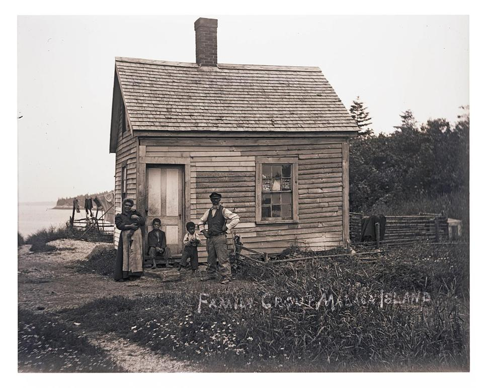 An image of a family on Malaga Island in Maine.