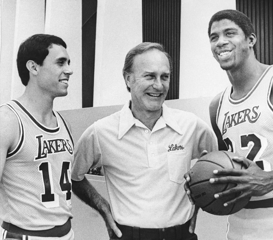 "Mr. McKinney, flanked by Brad Holland and Earvin ""Magic"" Johnson, coached the Lakers briefly in 1979."