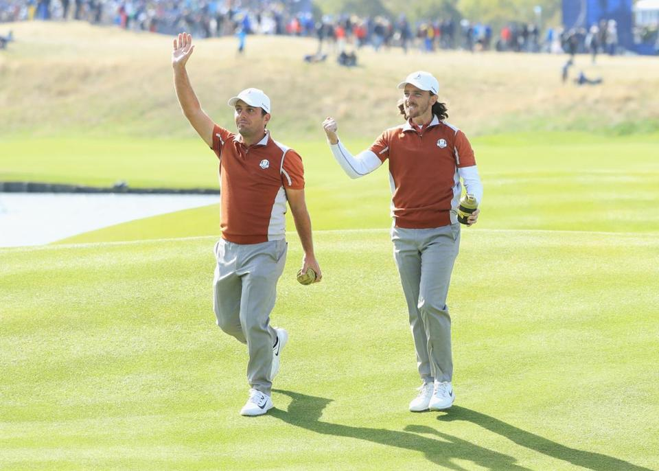 Tiger Woods' Girlfriend Is Going Viral At The Ryder Cup This Morning