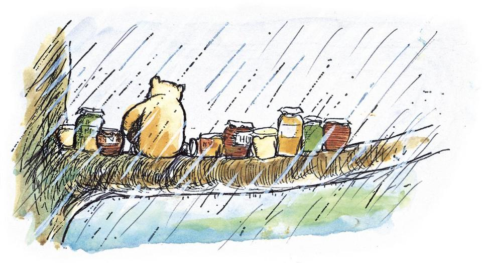 "An Ernest H. Shepard illustration from ""Winnie-the-Pooh: Exploring a Classic."""
