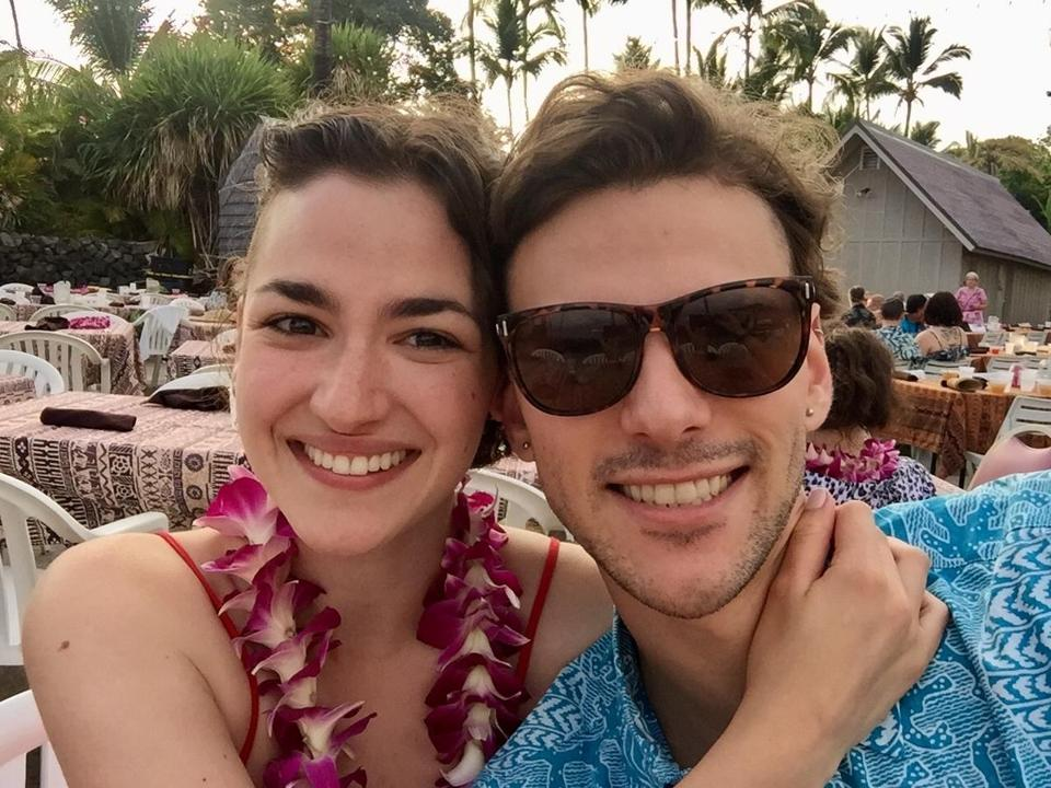 Hannah Cruz and her boyfriend, cinematographer Nicasio Zanetti, on vacation.