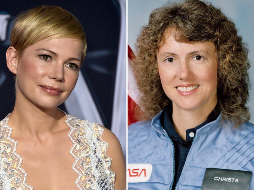 Michelle Williams and Christa McAuliffe.