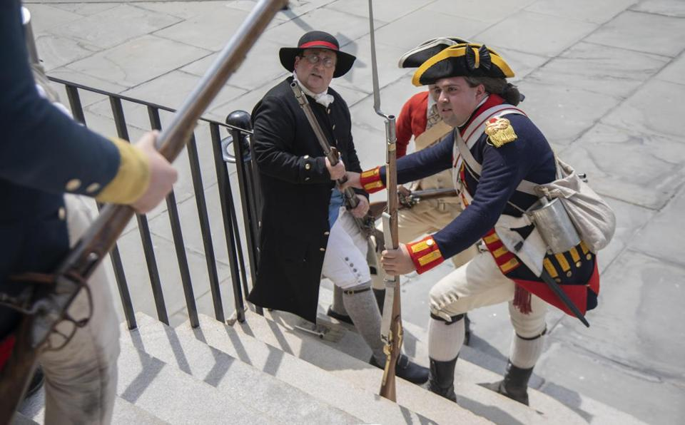This weekend, Revolution 250 actors will stage Boston Occupied, a reenactment of the 1768 arrival of British troops in the city. Revolution 250 is a consortium of institutions marking the sestercentennial of events that led to the Revolution.