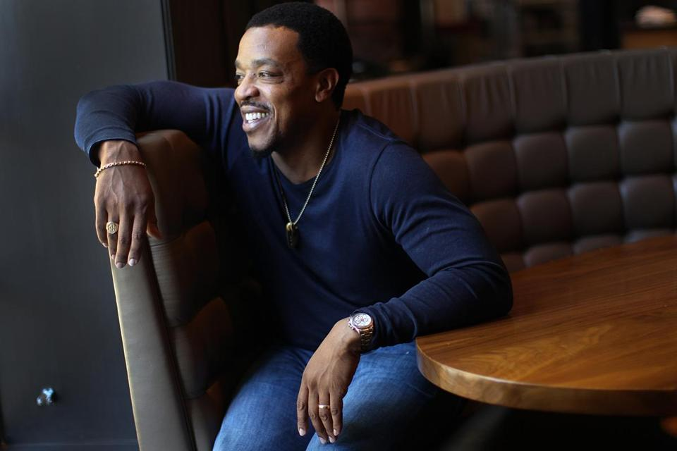 "Russell Hornsby plays Maverick ""Mav"" Carter in the film adaptation of the bestseller ""The Hate U Give."""