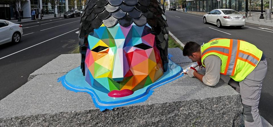 Okuda San Miguel said his goal is to transform and enhance everyday spaces where people roam, bringing optimism to a given area.