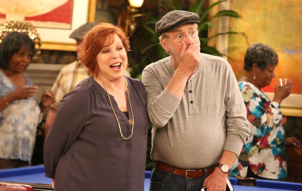 "Vicki Lawrence and Martin Mull in ""The Cool Kids."""