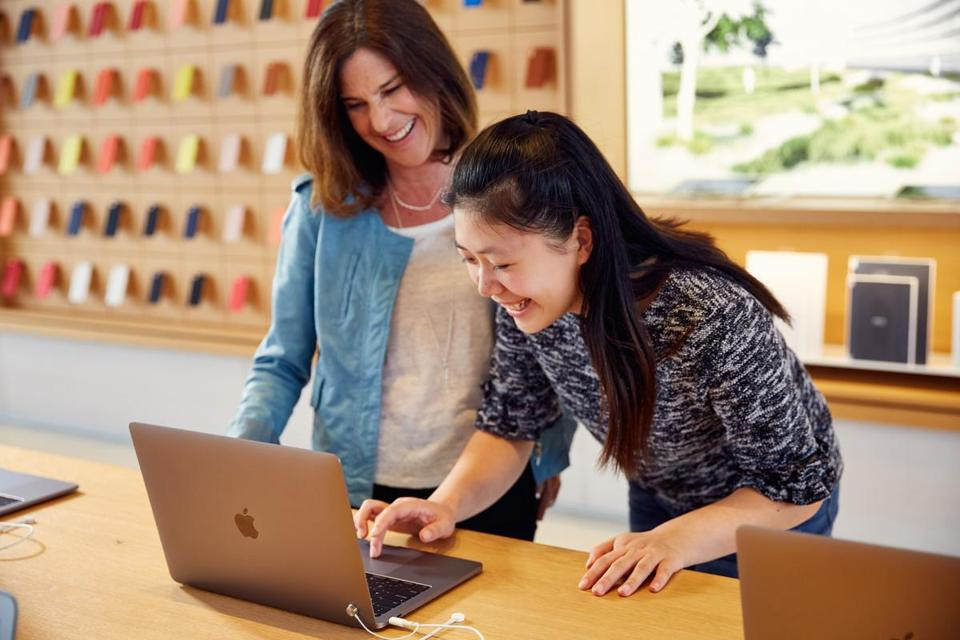 11namesDreamBigPrincess -- Susan Prescott (L), the vice president of product marketing at Apple, stands with Jessica Zhang (R), 16, a student at the Middlesex School in Concord, Mass. Zhang was one of 21 young women from 13 countries chosen by Disney to participate in its Dream Big Princess video series. For the video, she interviewed Prescott about her advice to the next generation about how to accomplish future career goals through Òdreaming big.Ó (Disney/Girl Up)