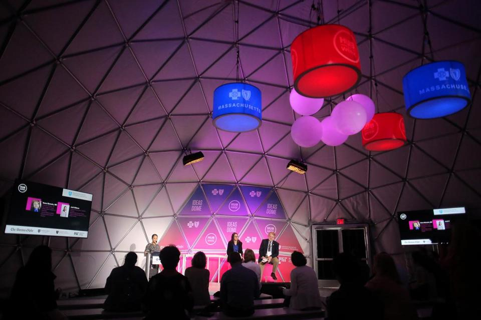 Boston, MA - 10/11/18 - Hubweek hosted a seminar for parents on how to talk to their kids about marijuana use in the Ideas Dome on City Hall Plaza. (Lane Turner/Globe Staff) Reporter: (Andrew Rosen) Topic: (12hubweekmarijuana)