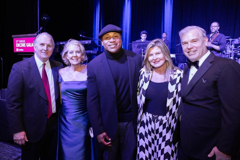 From left: Roger Brown, Linda Mason, LL Cool J,  and Lori and David Sprows.