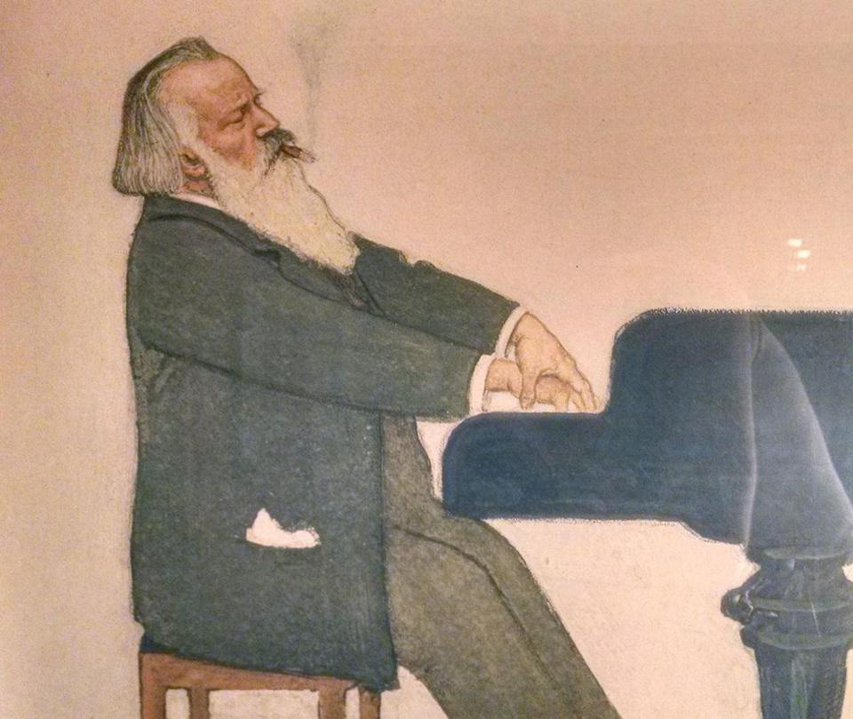 Brahms am Flugel by Willy von Beckerath.