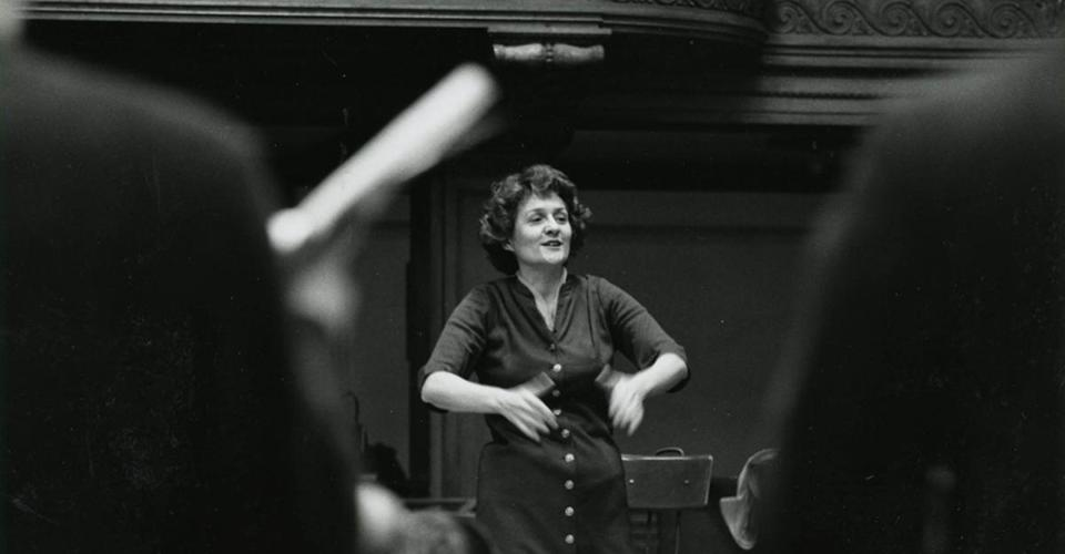 Mrs. deVaron was a pioneering woman in Boston's conducting ranks.