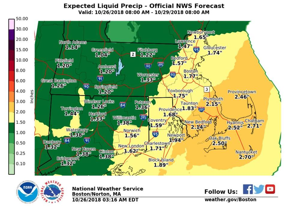 Season's first nor'easter taking shape, with help from Willa's moisture