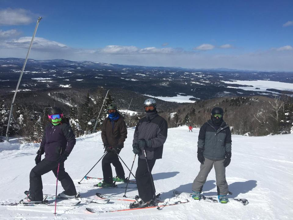 The author and his children at Mount Sunapee in New Hampshire.