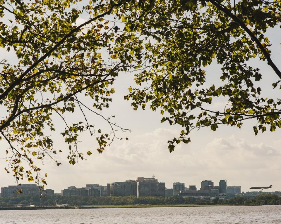 The Crystal City neighborhood of Arlington Va. seen from across the Potomac in Washington Oct. 1 2018. Many investors and officials believe Amazon sees Northern Virginia as the best fit for a second headquarters site. Among the upsides good transit