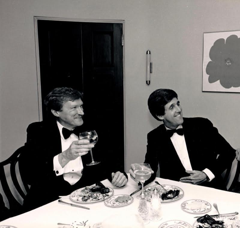 "Mr. Marttila with John Kerry during a campaign event in the 1980s. Mr. Marttila ""didn't let you stray from the values,'' Kerry said. ""We always had an ethic of trying to win, but to win in a way that you could be proud of."
