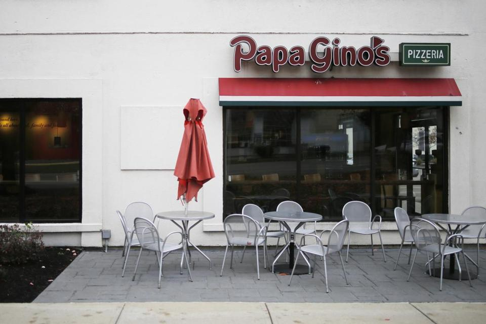 Papa Gino's on Needham Street in Newton is among those that were closed this week.