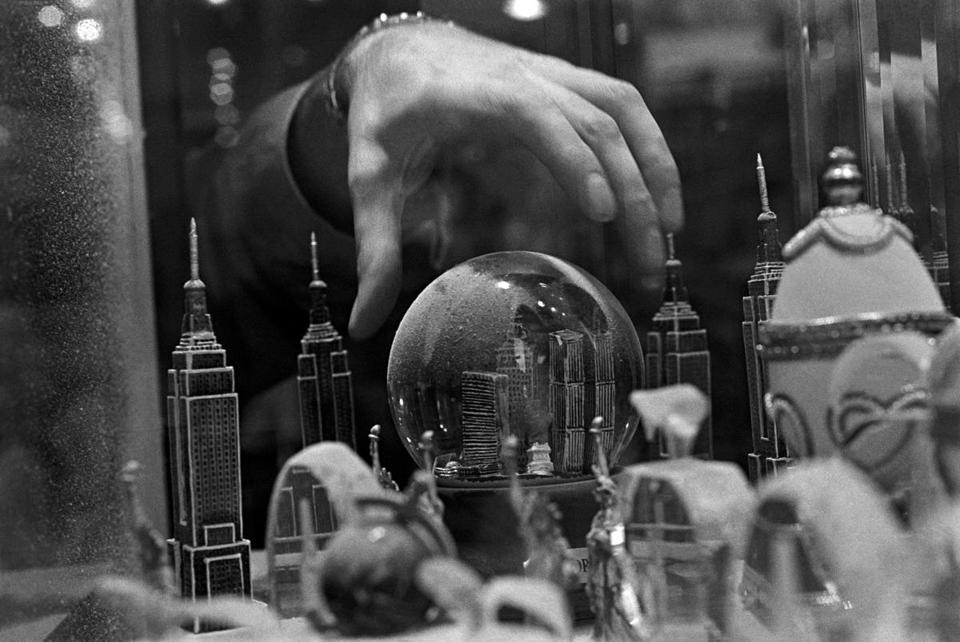 "Eugene Richards ""Snow globe of the city as it once was, New York,"" 2001 c) Eugene Richards"