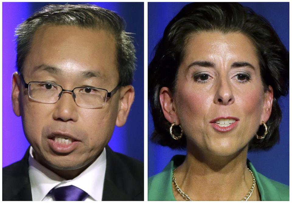 Allan Fung and Gina Raimondo.