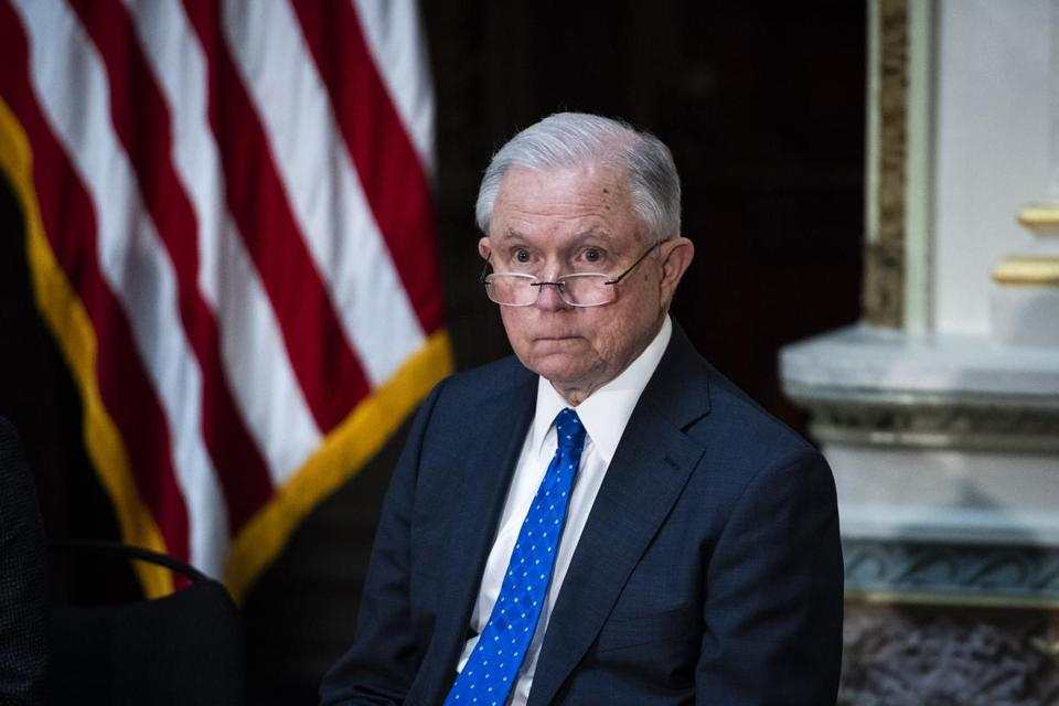 Attorney General Jeff Sessions resigned on Wednesday at President Donald Trump's request. MUST CREDIT: Washington Post photo by Jabin Botsford