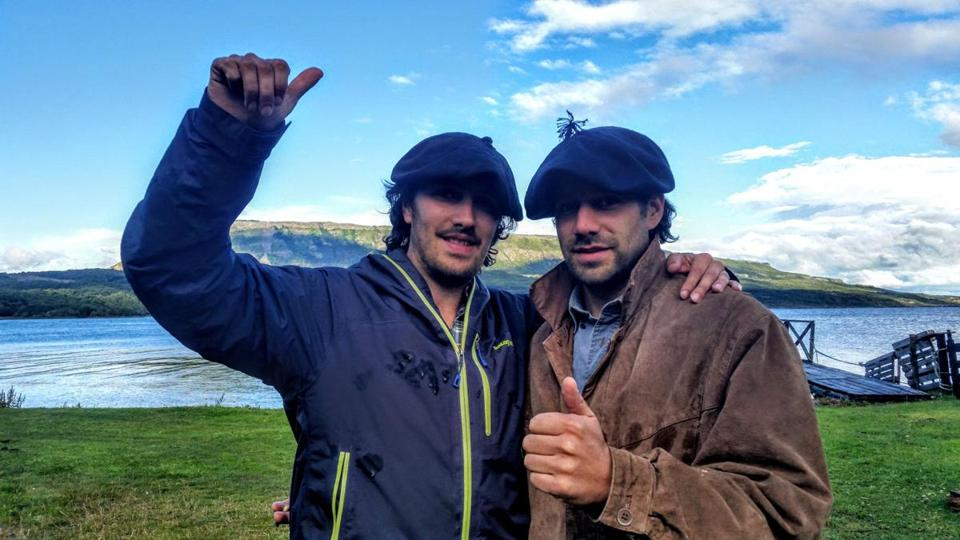 Sebastian Garcia Iglesias (left) and his brother Rodrigo round up cattle and guide visitors at Estancia Mercedes in Chile.