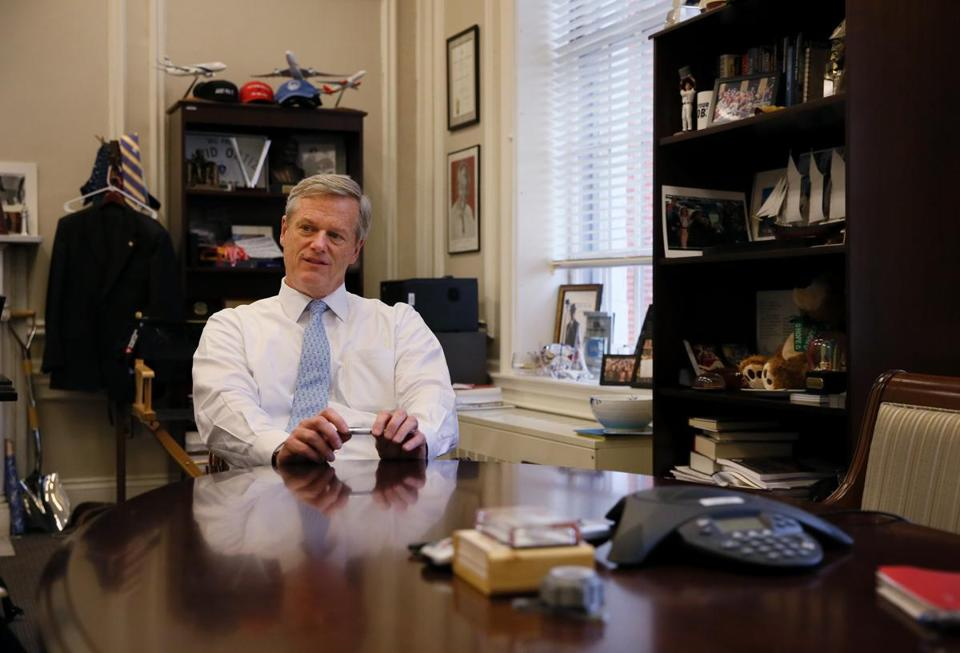 "Governor Charlie Baker said his constituents appreciate his ""no muss, no fuss"" governing style."