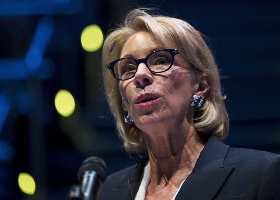 DeVos proposed new protections for students accused of assault