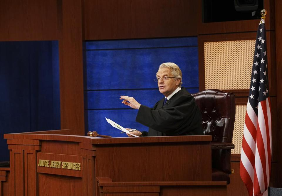 Jerry Springer Is Doing a Courtroom Show Called Judge Jerry