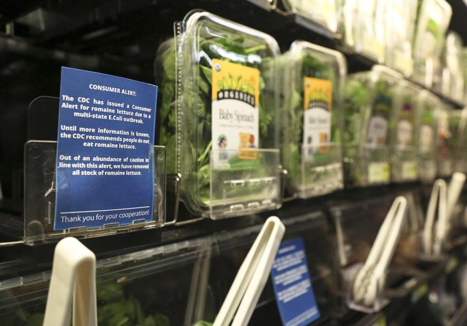 Romaine lettuce was removed from the shelves a grocery store in Pittsburgh last week
