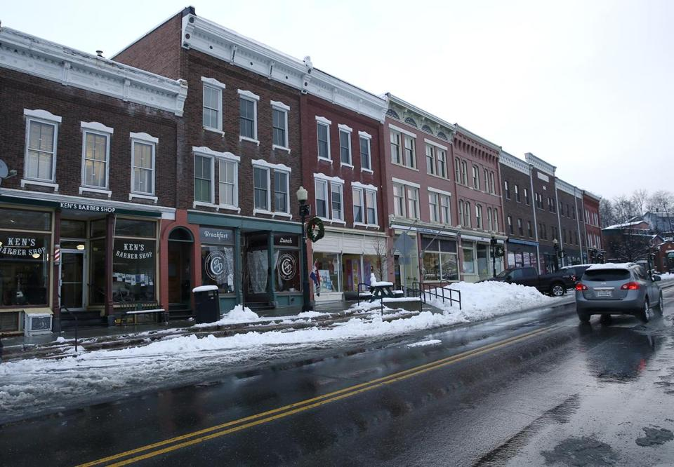 Shops along North Main Street in Randolph.