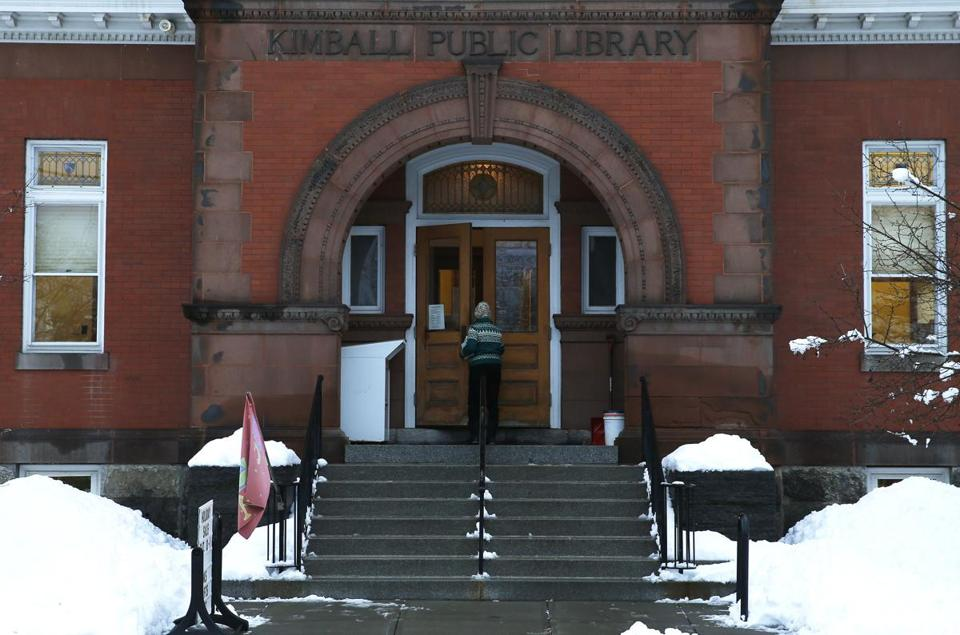 A woman walked into Kimball Public Library in Randolph.