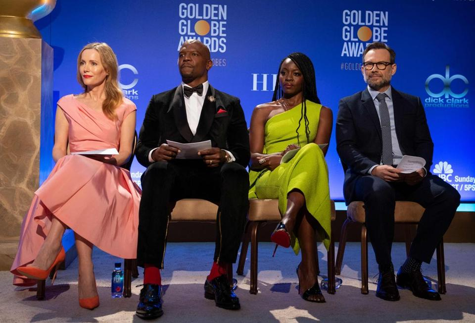 Leslie Mann, Terry Crews, Danai Gurira, and Christian Slater were tapped to announce the Golden Globe nominees Thursday morning.