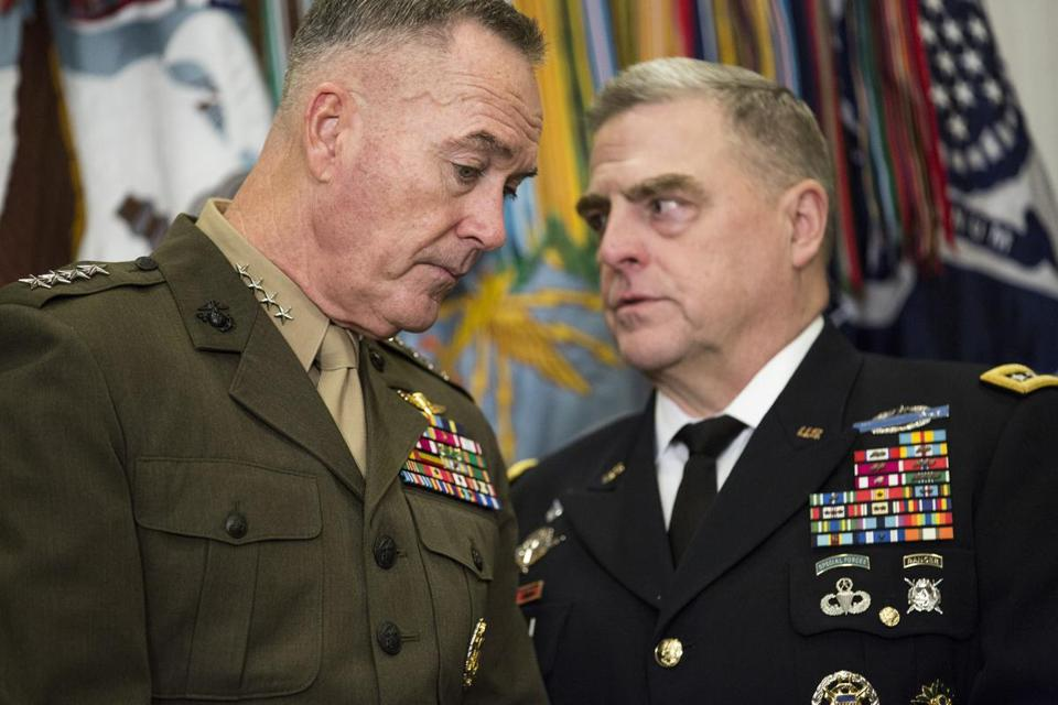 Trump Names Milley to Succeed Dunford as Joint Chiefs Chairman