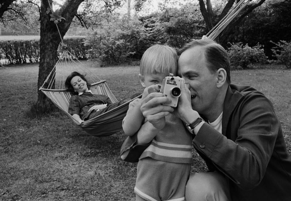 "Ingmar Bergman (right) and Kabi Laretei with their son, Daniel, as seen in the new documentary ""Searching for Ingmar Bergman."""