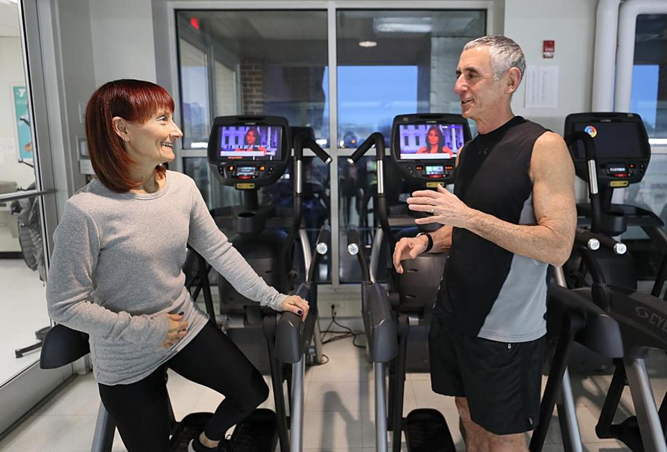 After becoming bored in retirement, Ron Cohen took a job at the Y, where he and his wife, Susan, a teacher, are members.