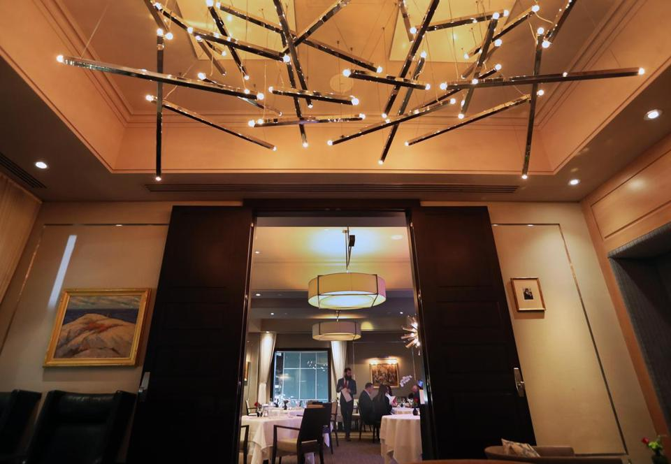 An interior view of Back Bay restaurant L'Espalier, as pictured on Dec. 26.