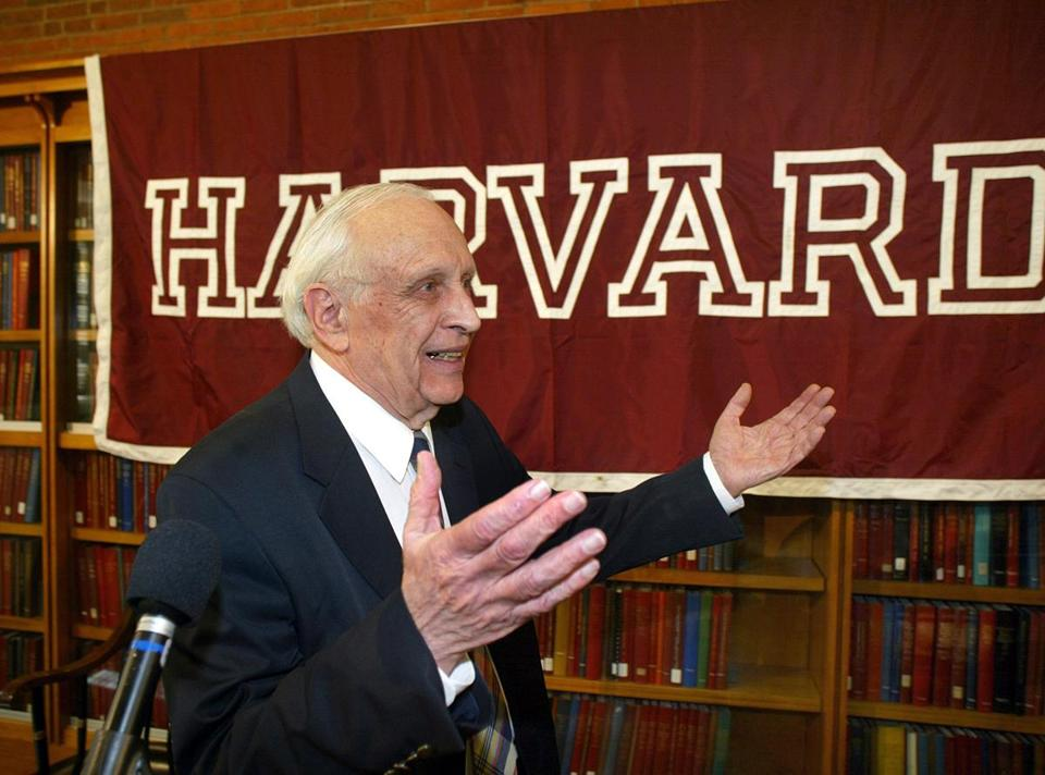 Dr. Glauber reacted to applause from colleagues after the announcement of his Nobel Prize in Physics in 2005.