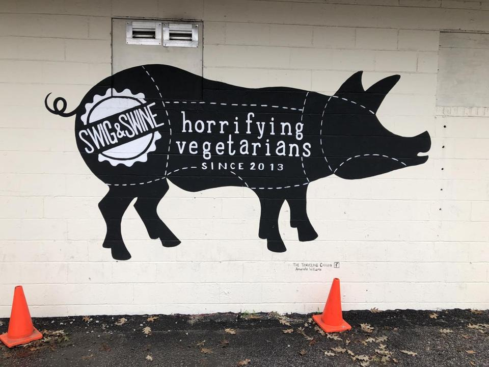 The Swig & Swine is a bourbon and barbecue joint on the Savannah Highway.