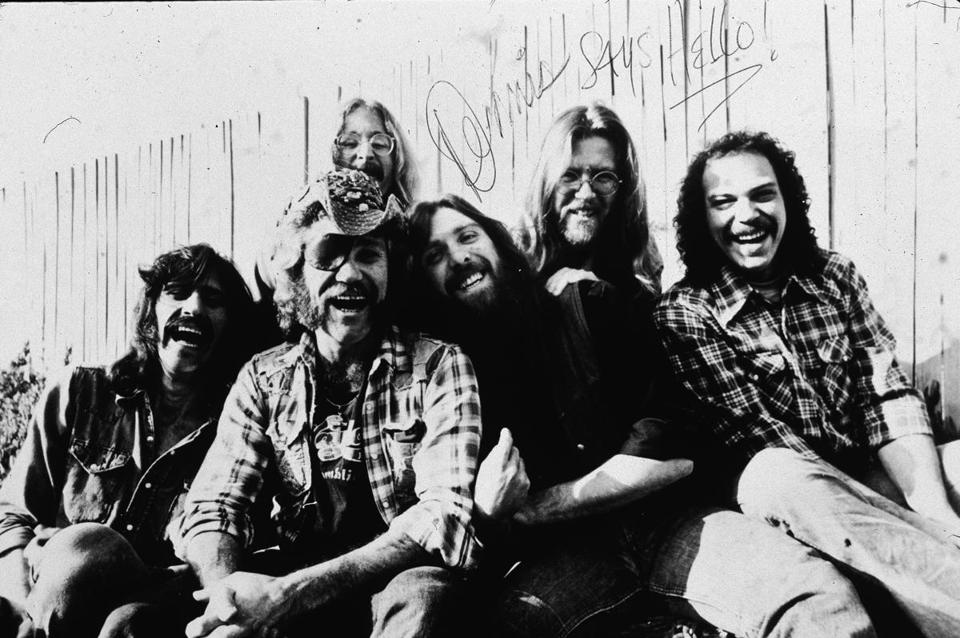 Mr. Sawyer (second from left) was a member of the band Dr. Hook and the Medicine Show.