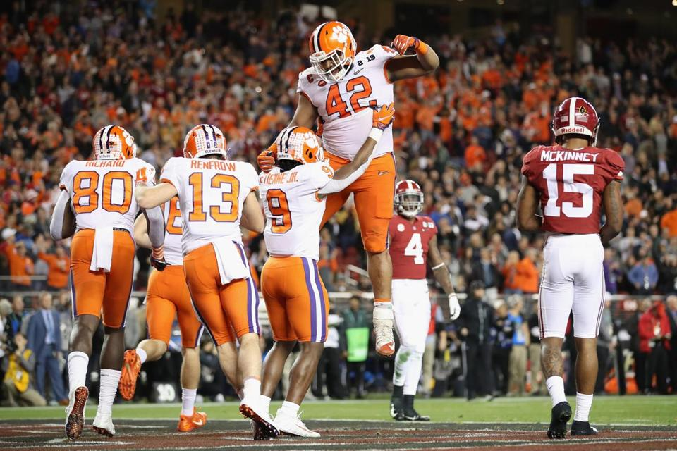 Clemson Rolls Tide To Win Natl Title