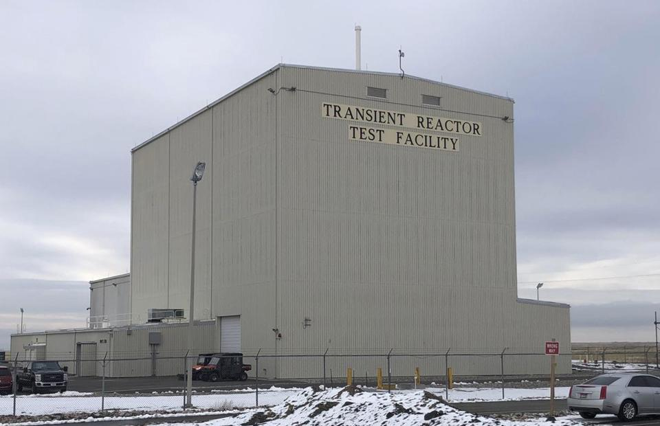This Nov. 29, 2018 photo shows the exterior of the Transient Reactor Test Facility at Idaho National Laboratory in Idaho Falls, Idaho. The facility has been restarted to test nuclear fuels as the U.S. tries to revamp a fading nuclear power industry with safer fuel designs and a new generation of power plants.(AP Photo/Keith Riddler)