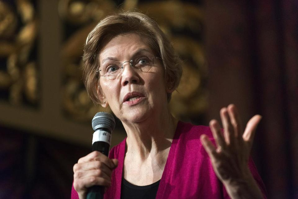 Democratic Senator Elizabeth Warren of Massachusetts.