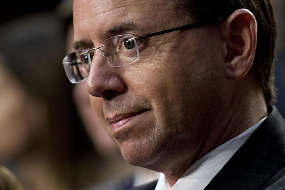 Rod Rosenstein Reportedly Leaving Justice Department After AG Confirmation Hearings