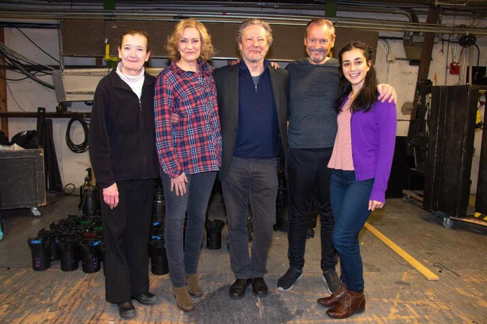 "(From left) Nancy E. Carroll, Mary Beth Fisher, Chris Cooper, John Judd, and Nikki Massoud after a performance of ""A Doll's House, Part 2."""