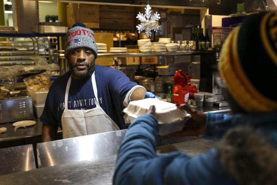 Calvin Adams served a customer on Friday at Haley House Bakery Café in Roxbury. Saturday will be the last day.