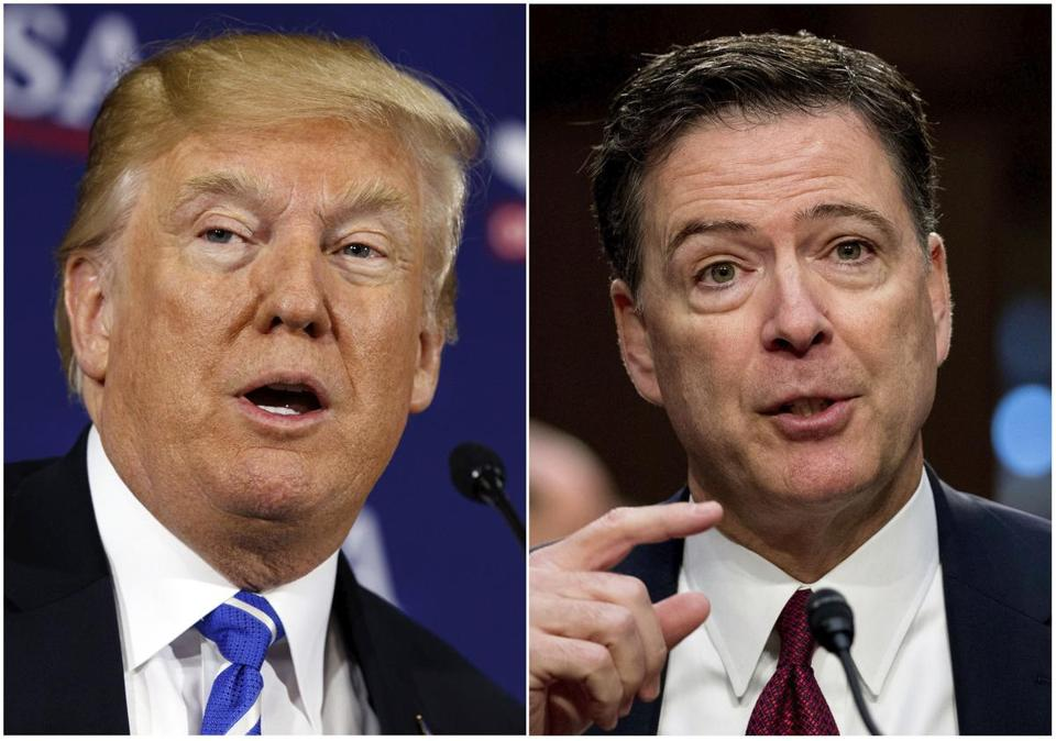 President Trump fired then-FBI director James Comey in May 2017.
