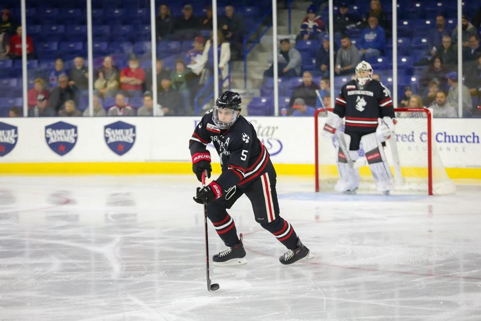 20zocampus --Ryan Shea, junior defenseman for Northeastern hockey. (Jim Pierce/Northeastern Athletics)
