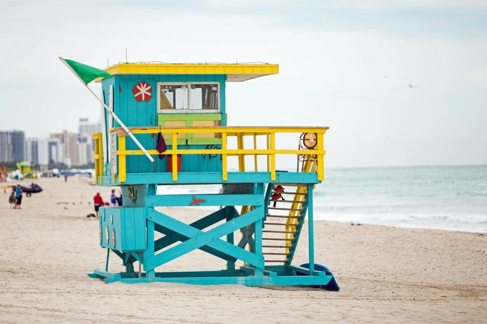 A BFF getaway on the beach? Yes, please. The average annual temperature in Miami is 76 degrees.