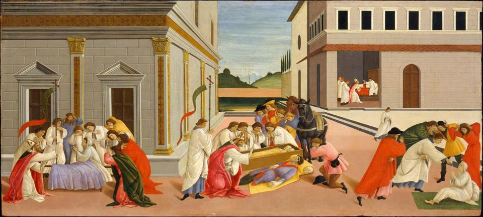 "Botticelli's ""Three Miracles of Zenobius"" will be part of ""Botticelli: Heroines and Heroes"" at Isabella Stewart Gardner Museum."